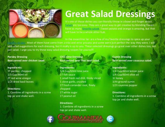 great-salad-dressings by Catalina Linkava via Slideshare