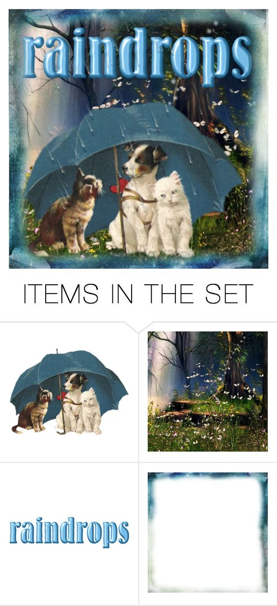 """Raindrops"" by nightowl59 ❤ liked on Polyvore featuring art"