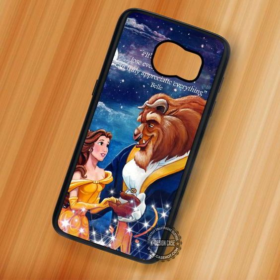 Beauty and The Beast Quote Belle Disney - Samsung Galaxy S7 S6 S5 Note 7 Cases & Covers