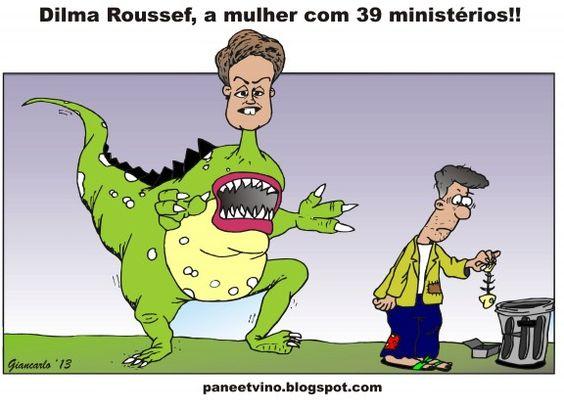 Dilma e seus 39 Ministérios