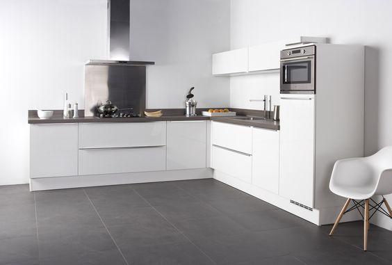 Bruynzeel Keuken Hoogglans Wit : Bruynzeel Keukens fronttype Pallas keuken in het wit hoogglans met