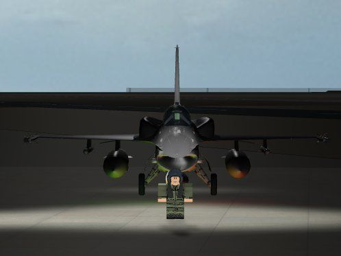 An Tuaf Roblox Pilot Standing By At An F 16d Fighter Jets - roblox pilot training flight simulator roblox hack easy