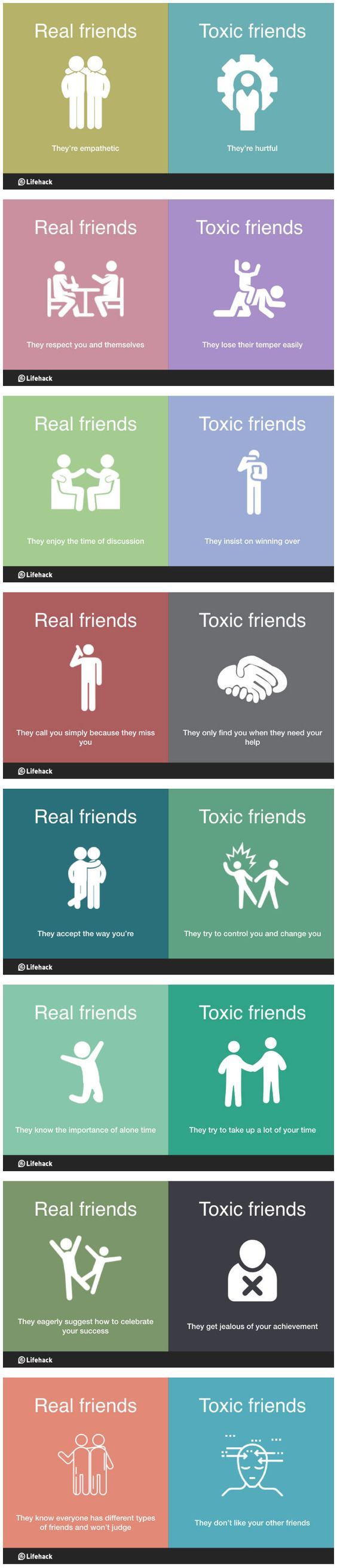 8 Ways To Differentiate Real Friends And Toxic Friends (By Lifehack)