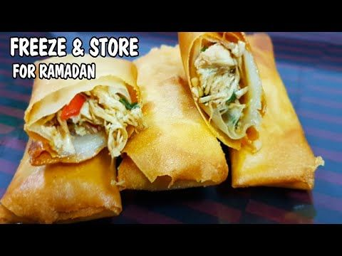 Chicken Spring Rolls L Ramadan Recipes L Freeze And Store For Ramadan L Cooking With Benazir Youtube Ramadan Recipes Chicken Spring Rolls Spring Rolls