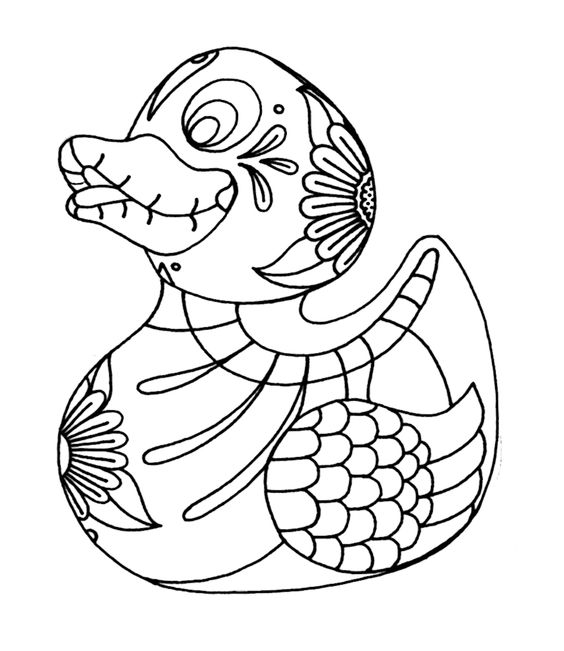 rubber duck coloring book page cute baby duck rubber ducky