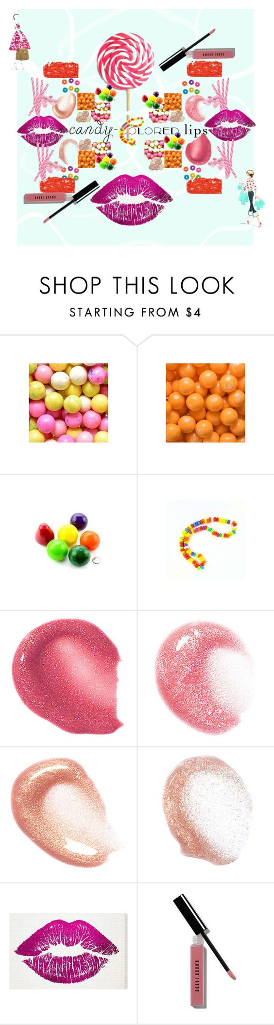 """""""Candy Lips No, 2"""" by ical-rox ❤ liked on Polyvore featuring beauty, Oliver Gal Artist Co. and candylips"""