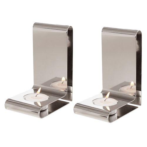Sätt lite prägel på din vägg med Queen Annes stilrena ljushållare i rostfritt stål Det