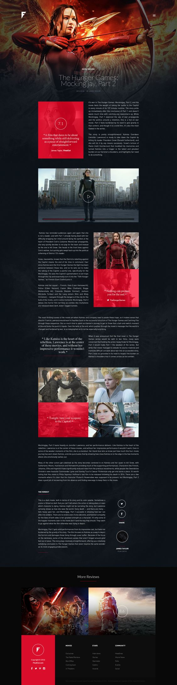 concept design for an online magazine portal on the world of movie concept design for an online magazine portal on the world of movie blockbusters star interviews