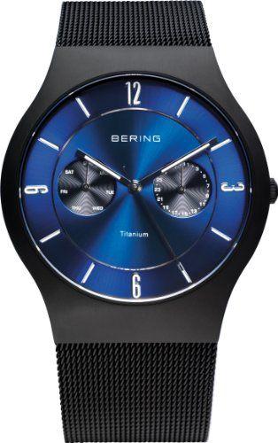 Bering Time Herren-Armbanduhr XL Part Ceramic Analog Quarz Edelstahl beschichtet 11939-AZ1