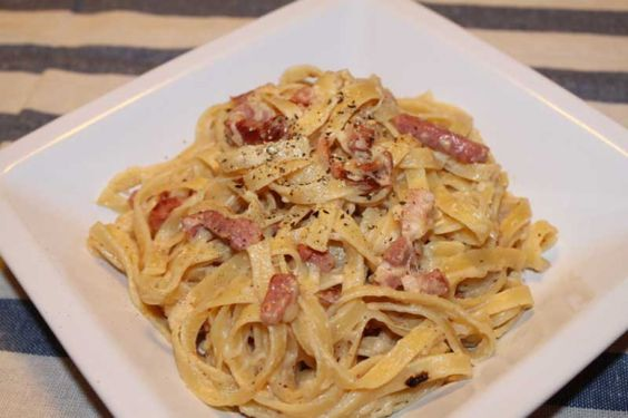 Nothing satisfies the appetite quite like a hearty italian pasta dish. This  carbonara is syn free on slimming world and can be enjoyed without a  slither of guilt. (Note: The philadephia light is 75g for healthy A) --  Enjoy! 2 Servings Prep Time: 5 Min Cook Time: 15 Min Ready In: 20 Min Ingredients     * 3 eggs     * 1 Tub Philadephia Light     * Black Pepper     * 100ml chicken stock     * 2x lean Gammon steaks or 300g baked ham, sliced     * 2 cloves garlic, crushed     * 1 Onion, ...