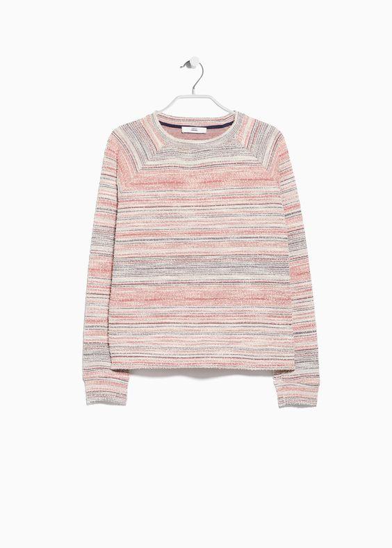 Sweatshirt retalas - Cardigans und pullover für Damen   MANGO
