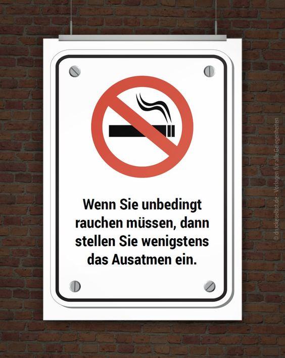Schild Rauchen verboten zum Selbstausdrucken