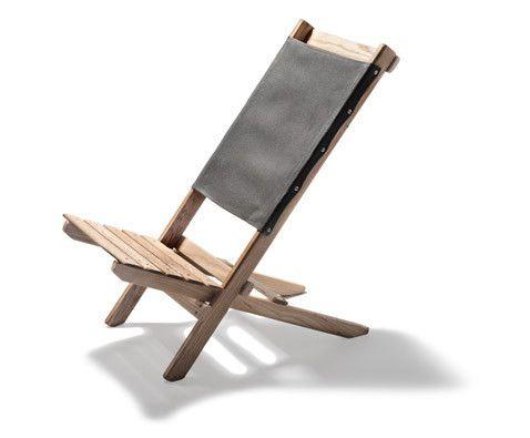 Waxed Canvas & White Ash Travel Chair (Slate)