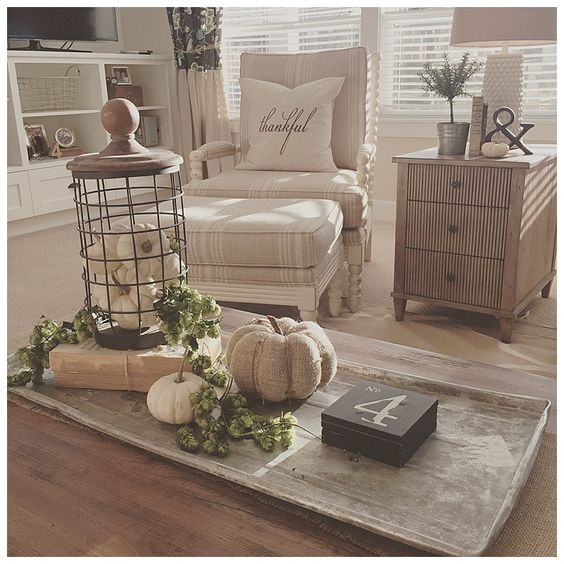 Loving this neutral home decor for fall home decor ideas for Neutral home decor ideas