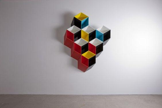 到底是設計品還是藝術創作的2.5D書櫃-IMEUBLE