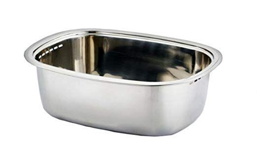 Kitchen Flower Stainless Steel Washing Up Bowl Multi Purpose Dish Tub For Sink Wash Basins Dishpan For Sink Kitchen Wash Basin Dish Pan