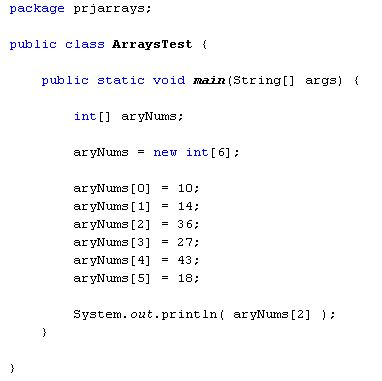 Code showing a Java Array JAVA_ARRAYS Pinterest Java - angularjs resume