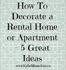 5 Affordable Ideas : How To Decorate A Rental House / Apartment |  Budgeting, Apartments And Decorating