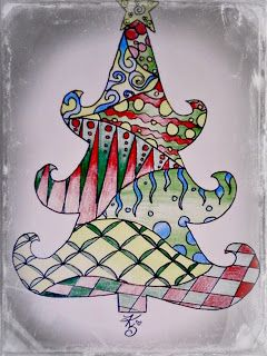In love, with art! (:: Zentangle Christmas Tree