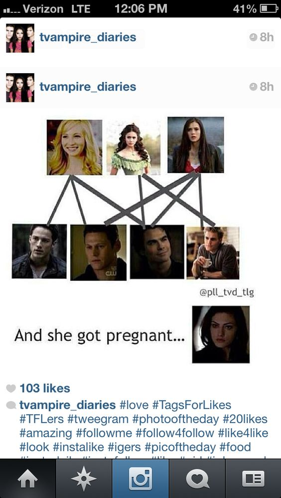 Well yes...because S and D can't get anyone pregnant and Katherine, Elena and Caroline can't get pregnant cuz they're vampires...sooo...I'm just saying.