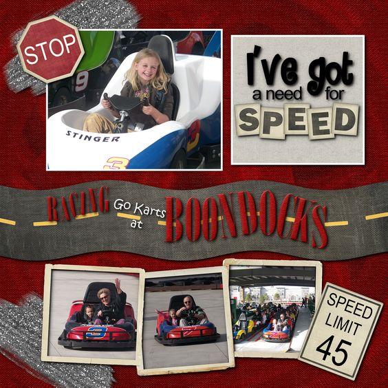Go Karts at Boondocks - Scrapbook.com