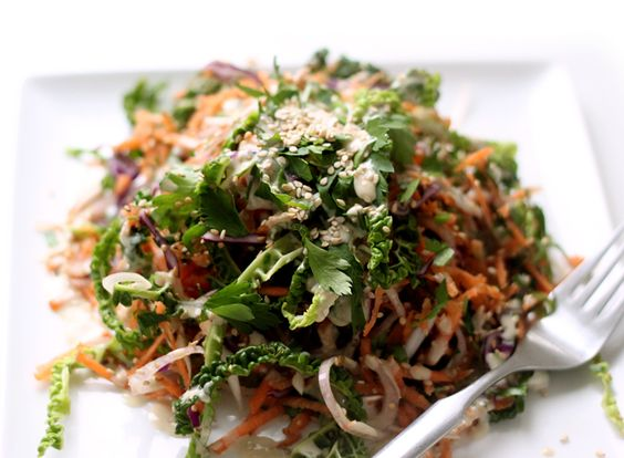 Roasted Sesame Winter Slaw - My New Roots