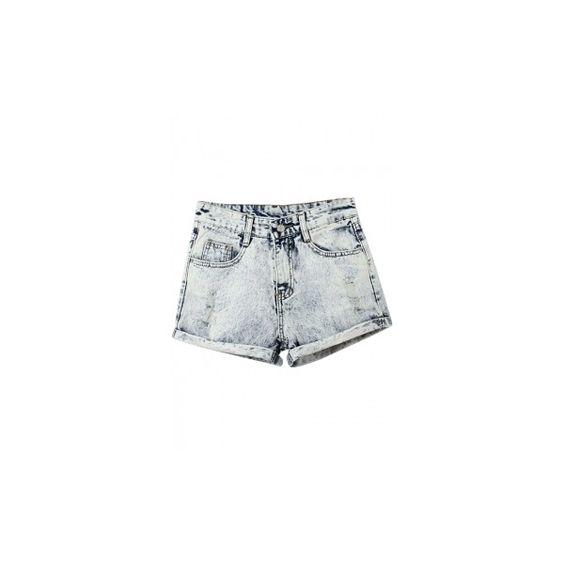 Fashion Style Denim Shorts - Beautifulhalo.com ❤ liked on Polyvore featuring shorts, denim short shorts, short jean shorts, jean shorts and denim shorts