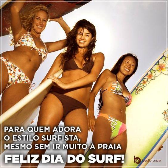 Você que tem espírito de surfista, agora já pode ter a cor do verão. Conheça Best Bronze: www.bestbronze.com.br  #diadosurf