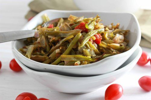 GREEN BEANS WITH SHALLOTS AND CHERRY TOMATOES. | FOR THE FOOD LOVER ...