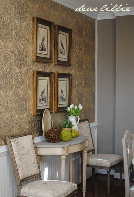 New Chairs in the Dining Room and Valentine's Silhouette for Sale  by Dear Lillie