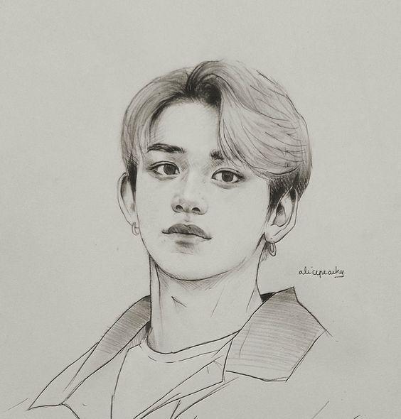 Bts Fanart Drawing Tutorial Kpop Drawings Fan Art Drawing Kpop Fanart