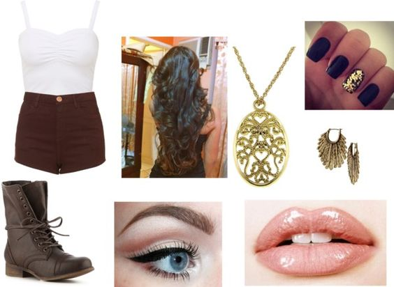 """BROWN! this was hard"" by lauren-napier ❤ liked on Polyvore"