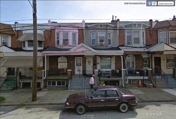 "West Oxford street, Philadelphia, Pennsylvania / 39°58'50.12""N 75°11'2.97""W (Google Earth Street View)"