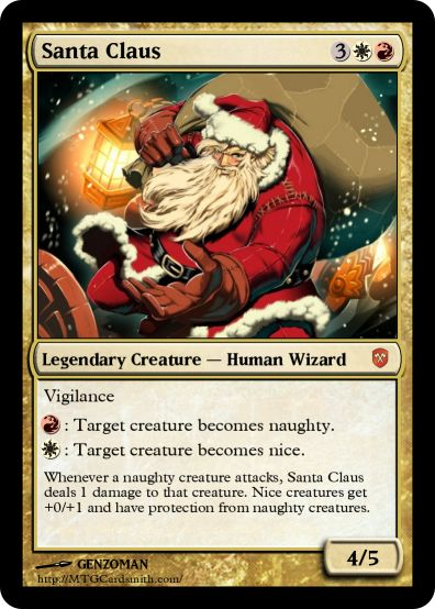 My dad looks just like this Magic the Gathering card : funny