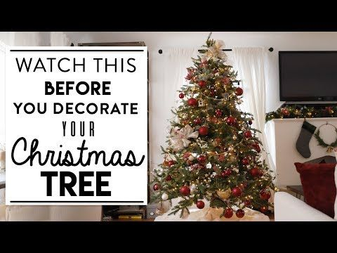 3 Christmas Tree Decorating Watch This Before You Decorate Your Tree Youtube Christmas Tree Tree Decorations Christmas Tree Decorating Tips
