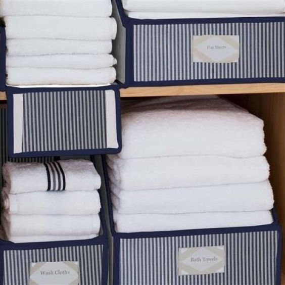 Copy of Collapsible Brushed Cotton Linen Closet Storage Collection | Great Useful Stuff
