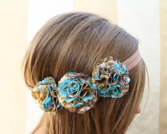 how to make cloth flowers for headbands
