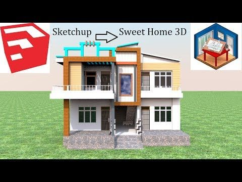 How To Import Any Model From Sketchup In Sweet Home 3d Youtube
