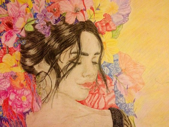 My first color drawing  Vanessa Hudgens
