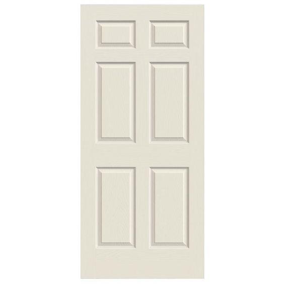 ReliaBilt Hollow Core 6-Panel Slab Interior Door (Common: 36-in x 80-in; Actual: 36-in x 80-in)