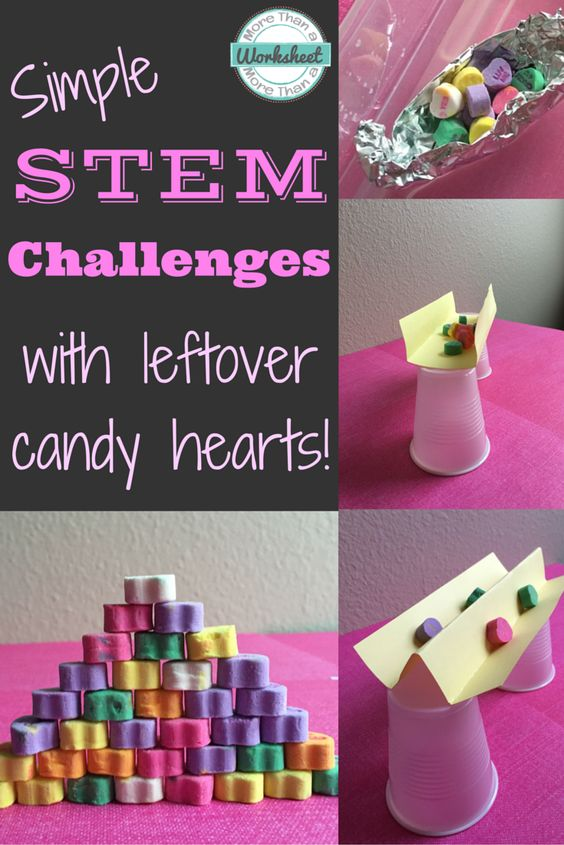 Sweet and easy conversation heart activities for Valentine's Day! Perfect for kindergartners!