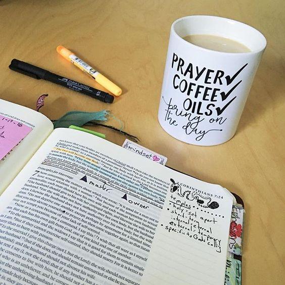 Prayer. Coffee.  Oils.
