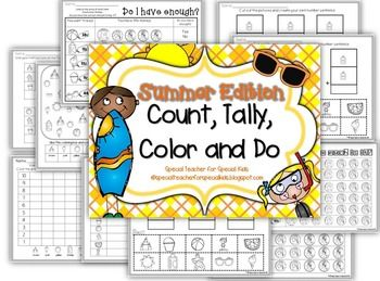 SUMMER COLOR, COUNT, TALLY AND DO- INSTANT AND INTERACTIVE MATH $