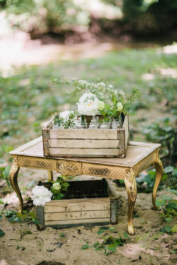Photography : Bri Morse Imagery Read More on SMP: http://www.stylemepretty.com/new-jersey-weddings/south-jersey/2014/08/08/southern-new-jersey-enchanted-woodland-wedding-inspiration/