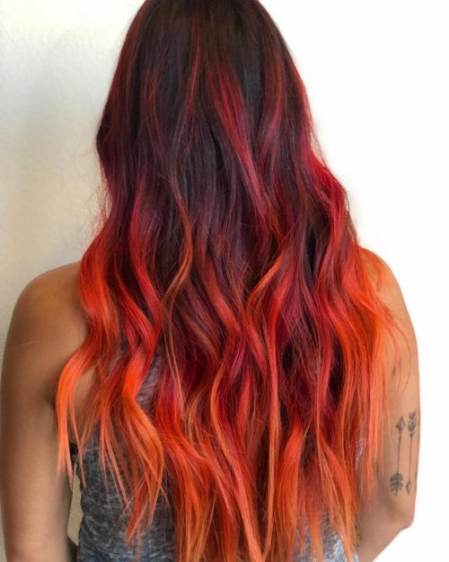 20 Stunning Orange Hair Color Shades You Have To See Orange Ombre Hair Hair Color Orange Red Orange Hair