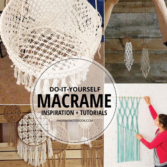 Inspiring macrame tutorials andrea 39 s notebook awesome for Macrame hammock chair pattern