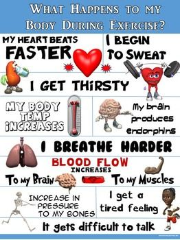LOOK AT ME, IM HOT, SWEATY AND TIRED; WHAT A GREAT WORKOUT!!!This colorful Physical Education Expectations Poster identifies 10 important body reactions that occur during exercise or while participating in an intense PE Activity. The statements are brief, yet POWERFUL!: