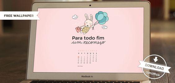 Free Wallpaper - Abril 2015 - Carinhas - Design & Ilustração