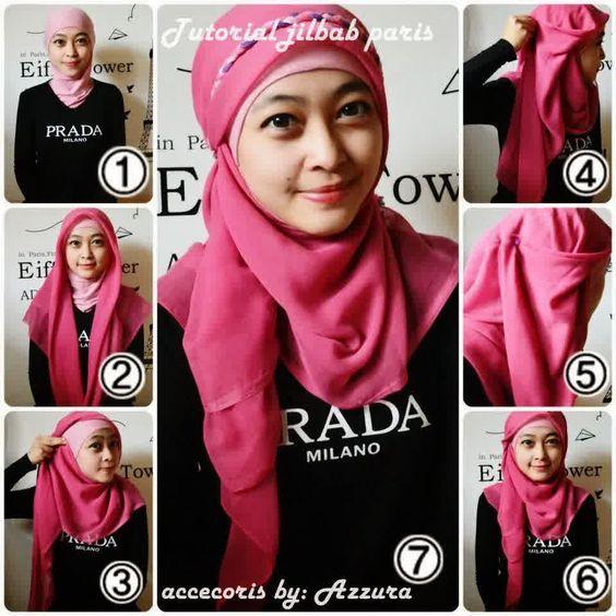 Tutorial Hijab Segi Empat Tanpa Ciput Cara memakai kerudung paris