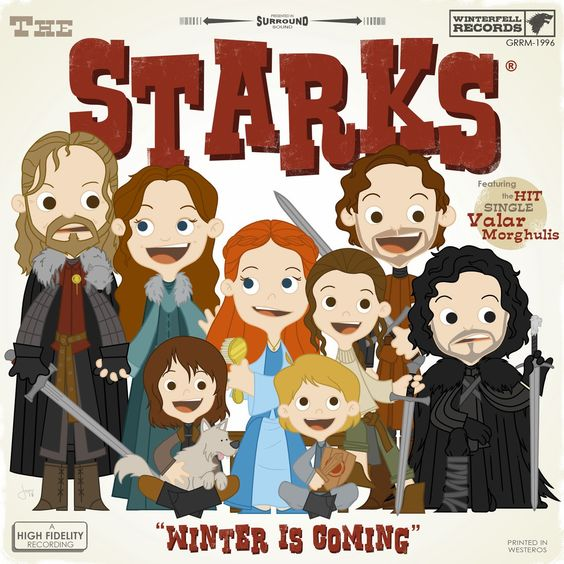 Game of Thrones Winterfell Records and A High Fidelity Recording of Winter is Coming by The Starks created by Joebot
